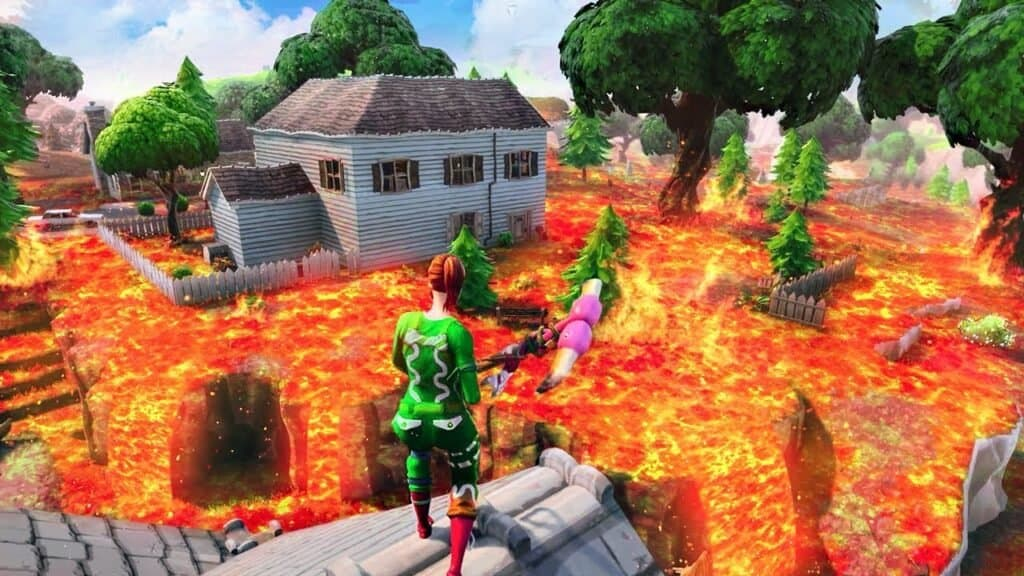 El suelo de Fortnite es lava