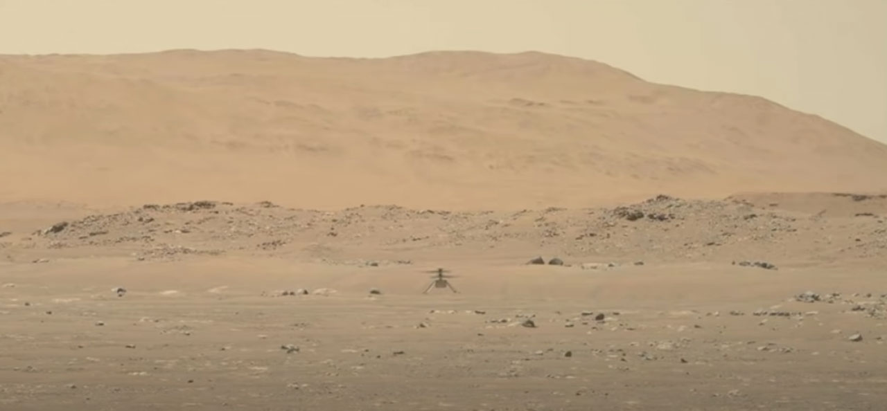 NASA shares hi-res video of Ingenuity Mars Helicopter first flight