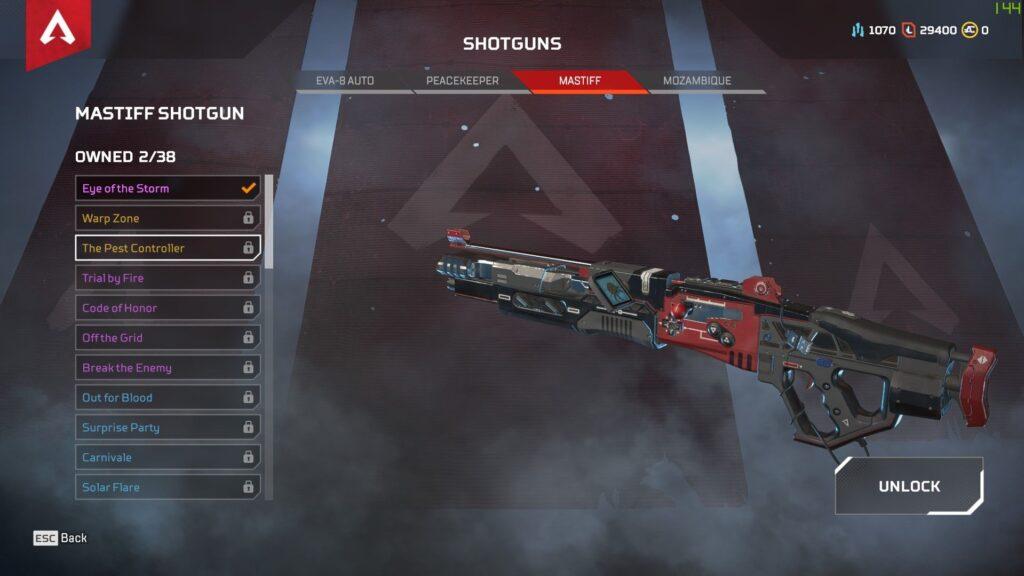 Apex Legends armas escopetas