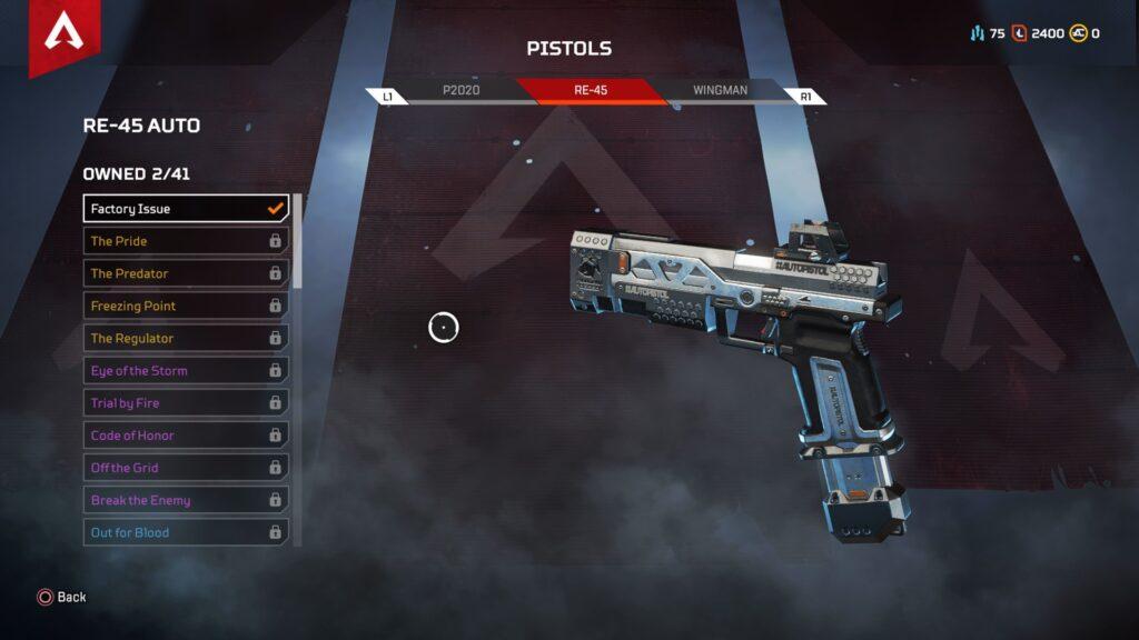 Pistolas de armas Apex Legends