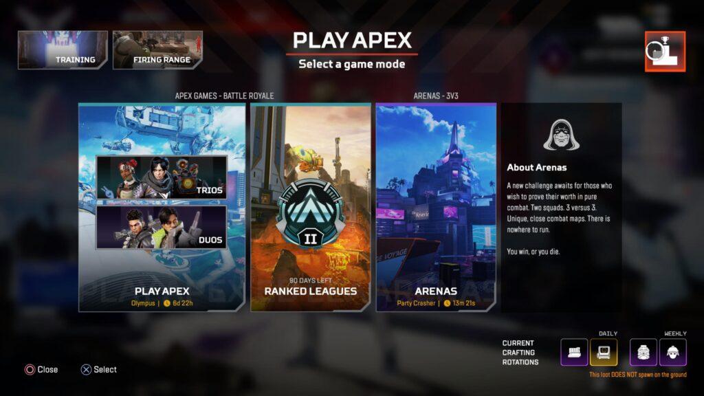 Partidos privados de Apex Legends