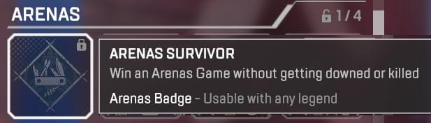 Insignia de superviviente de Apex Legends