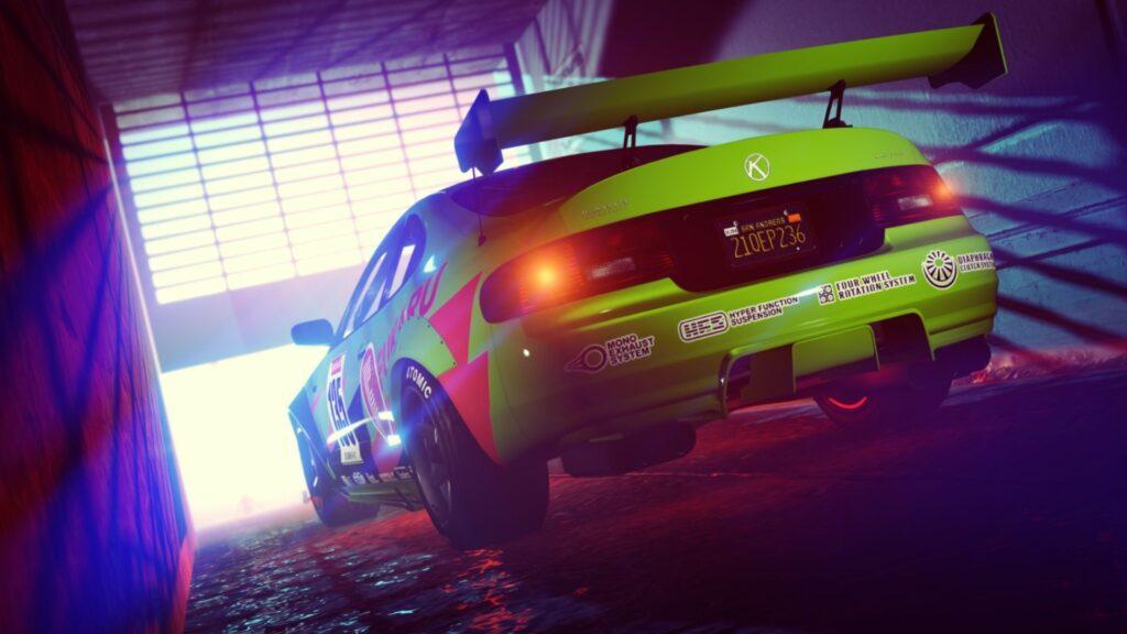coche verde de gta online