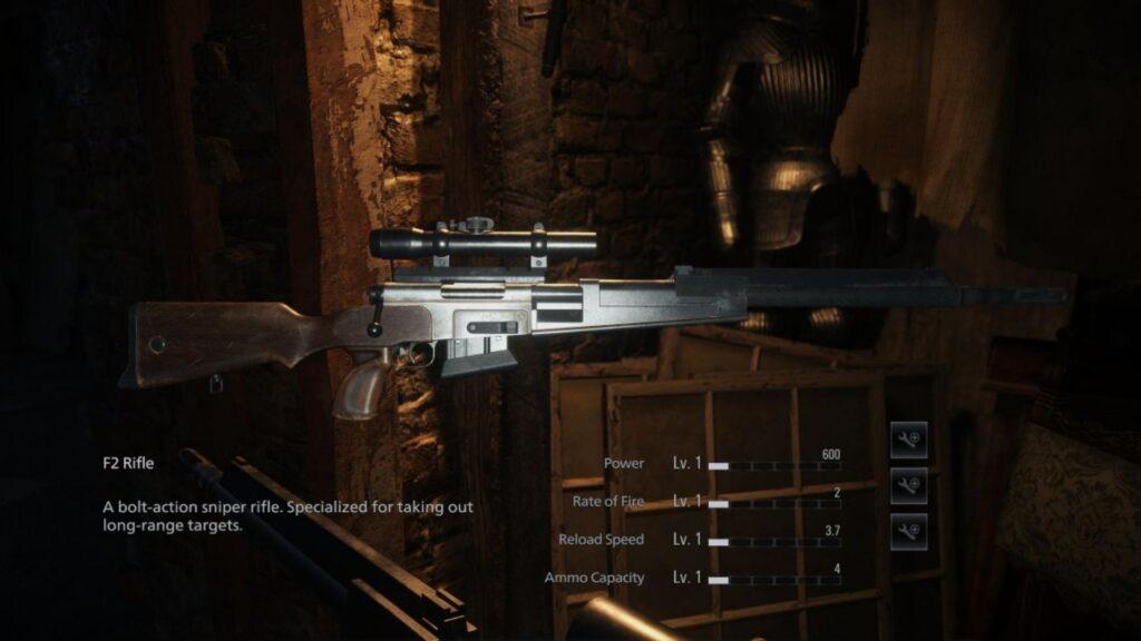 Rifle F2 de Resident Evil Village