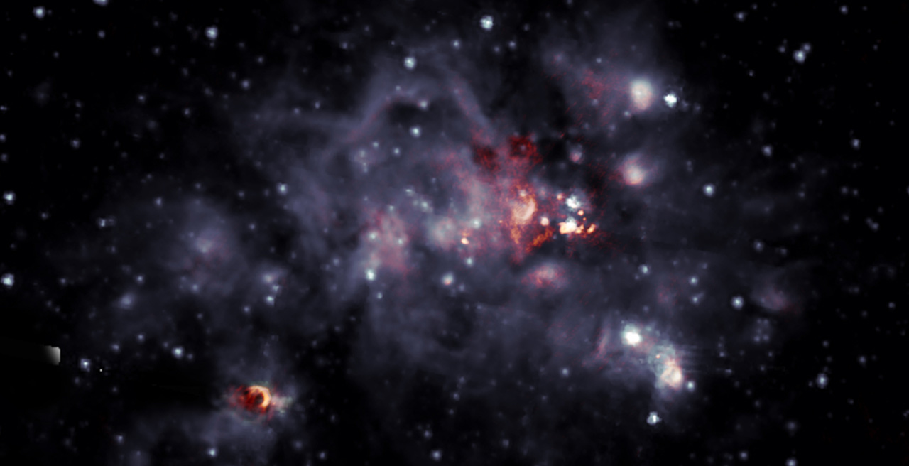 Astronomers share a beautiful image of a giant molecular cloud