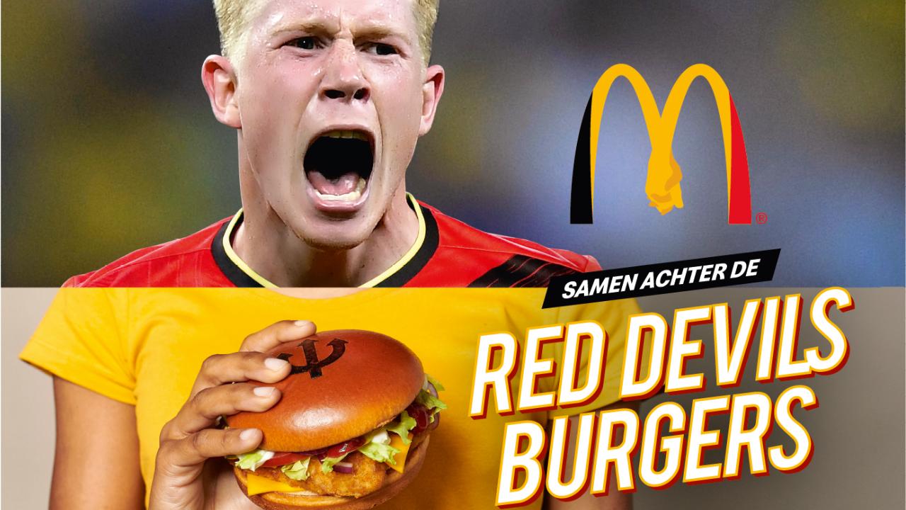 Para el euro, McDonald's lanzará dos nuevas hamburguesas con los colores de los diablos rojos