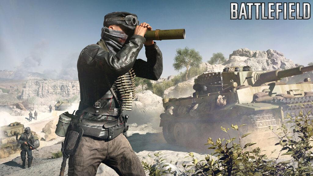 Jugador de Battlefield V con tanque