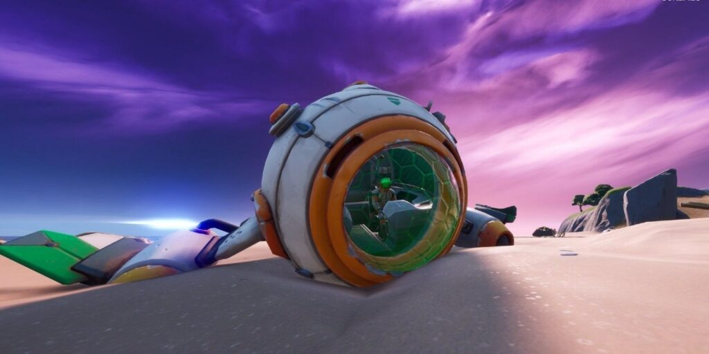 Nave espacial en Fortnite