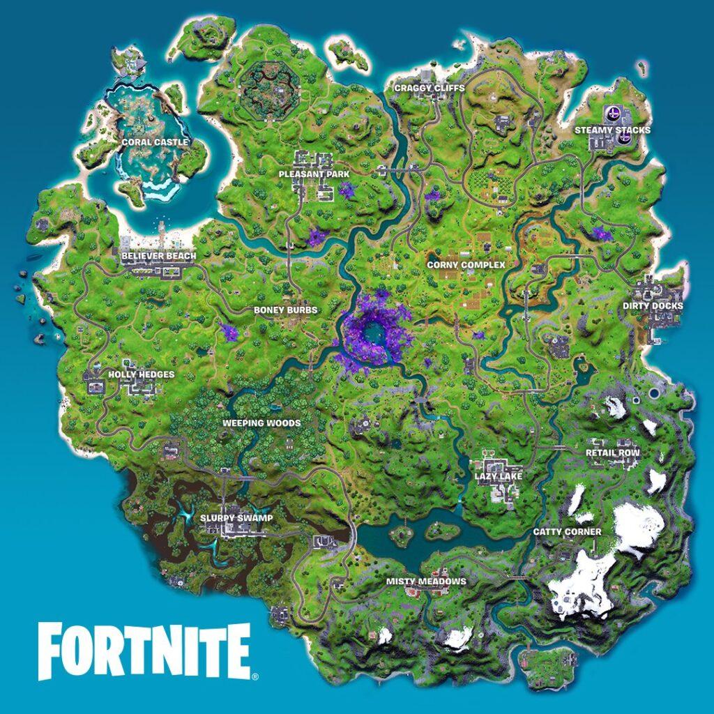 Mapa de la temporada 7 de Fortnite