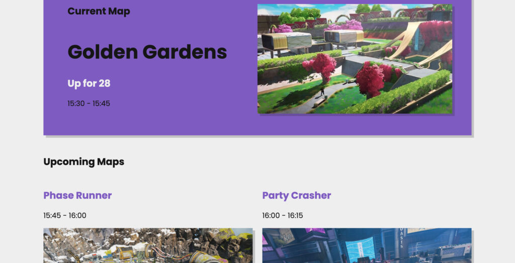 Rastreador de rotación de mapas de Apex Legends Arenas