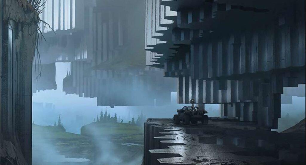 Arte conceptual filtrado de Halo: Infinite