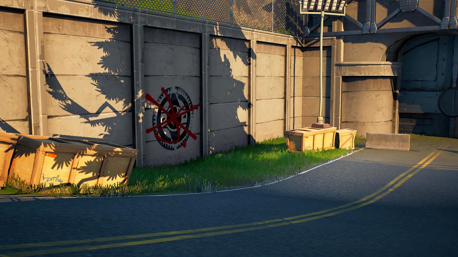 Muro cubierto de graffiti en Catty Corner