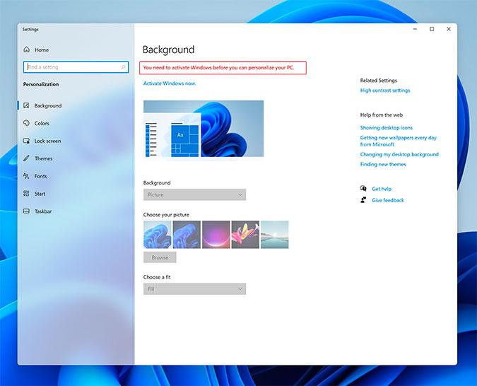 configuración de windows 11