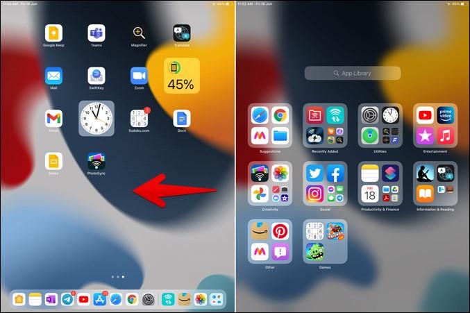 Biblioteca de aplicaciones iPad Acess