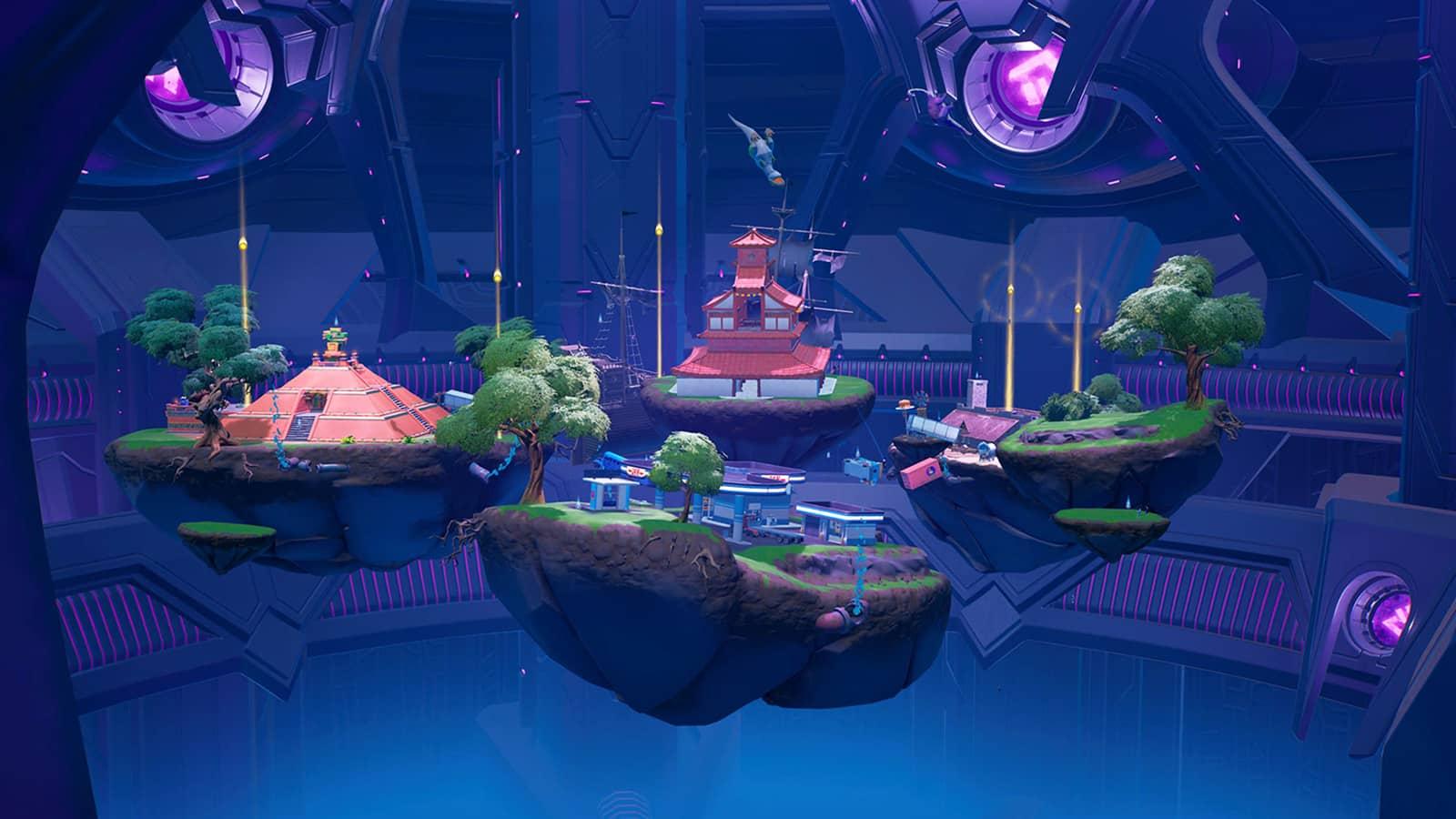interior de la nave nodriza de Fortnite