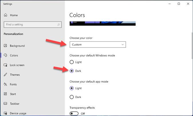 usar el tema oscuro en el menú de inicio en Windows 11