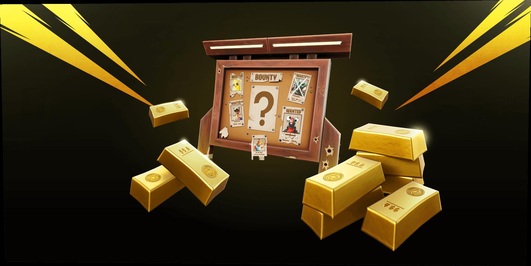 Barras de oro y recompensas de Fortnite