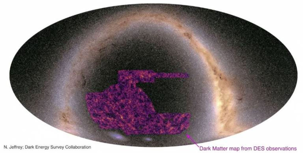 New dark matter map relied on the light from millions upon millions of galaxies