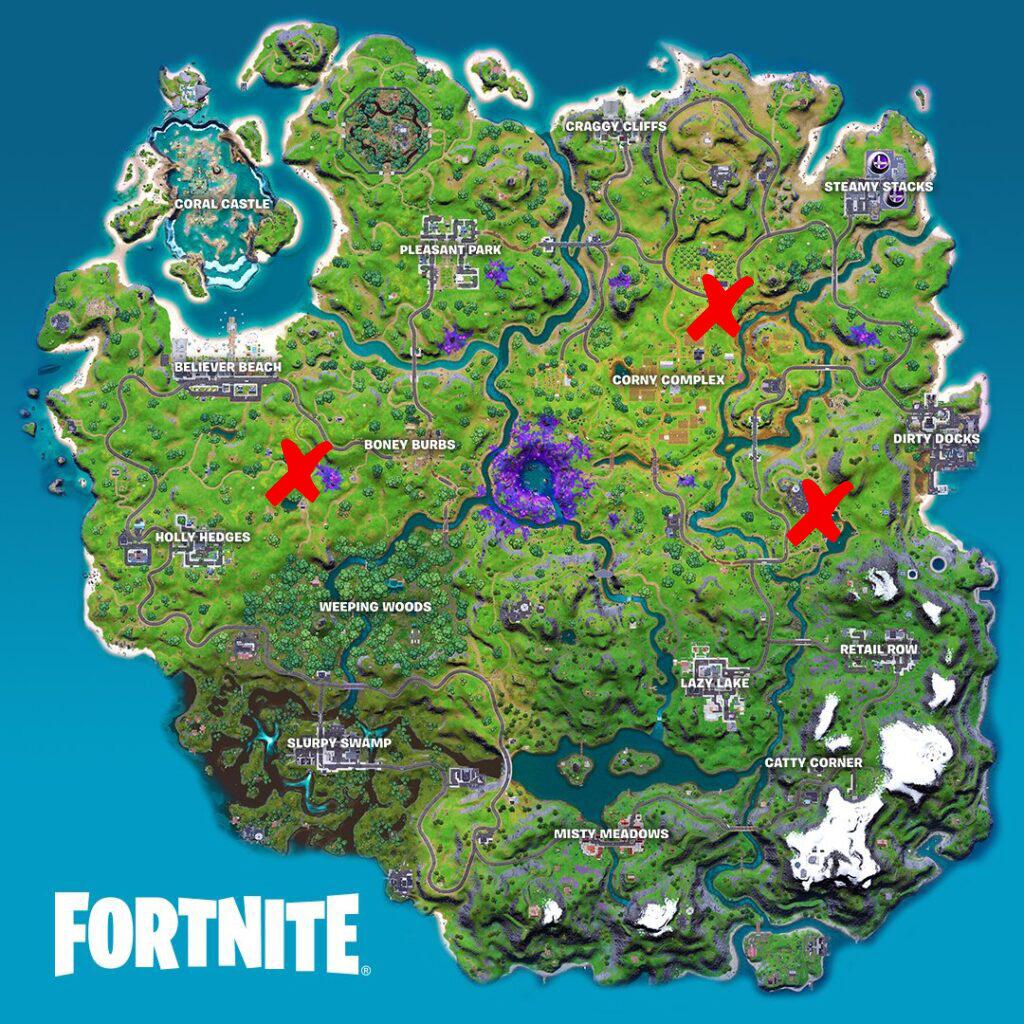 Los lugares favoritos de Farmer Steel en el mapa de Fortnite
