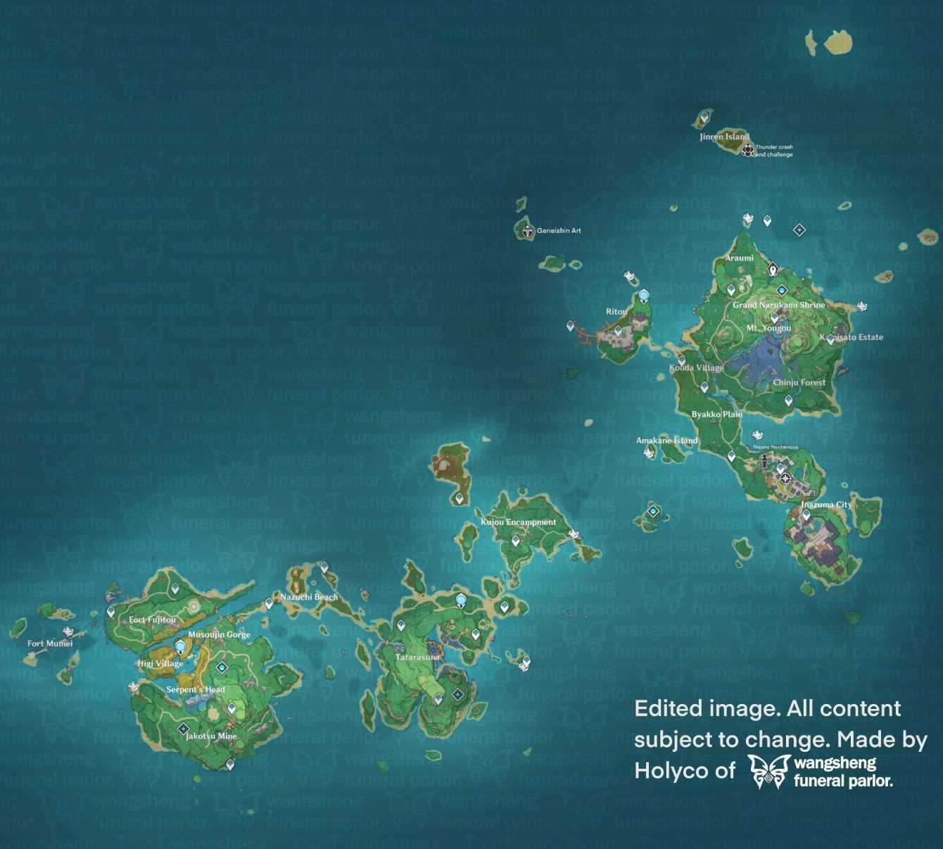 Impacto de Genshin: una nueva filtración revela la región de Inazuma