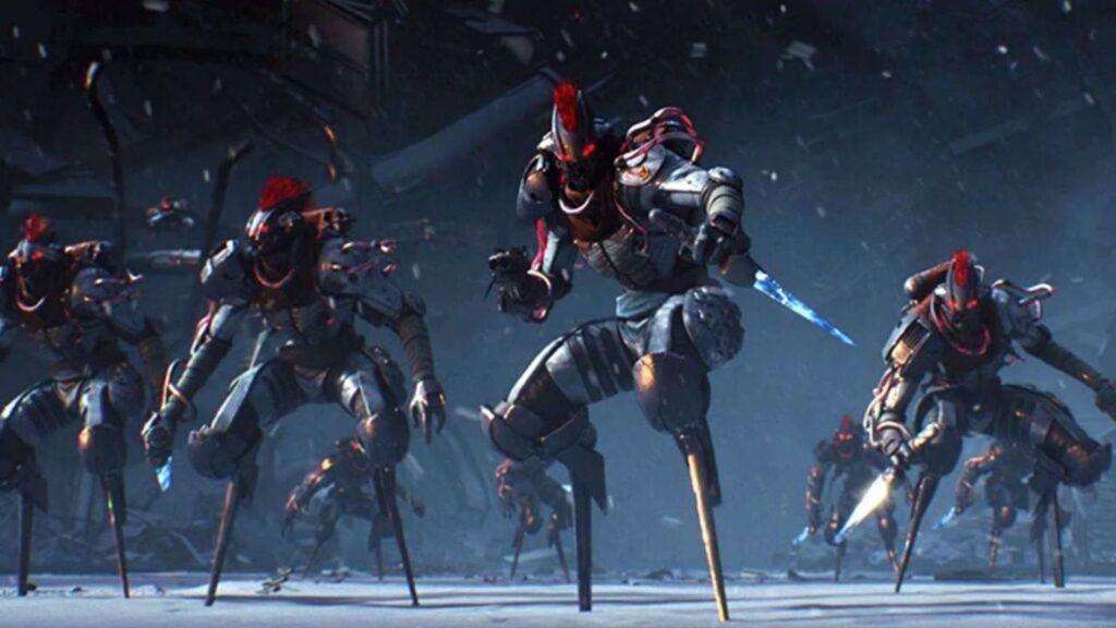 Destino 2 enemigos preparándose para el combate.