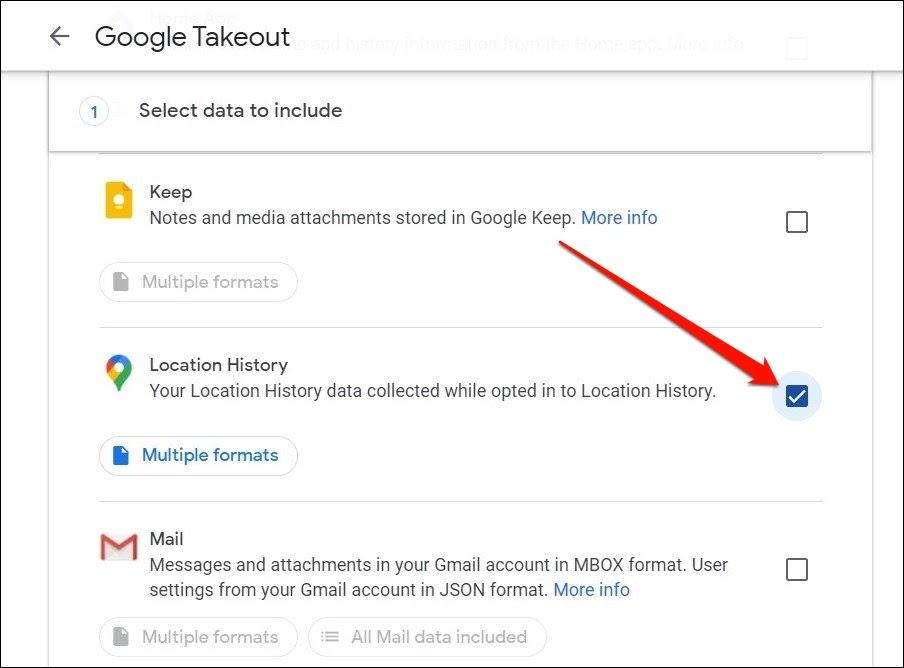 Historial de ubicaciones en Google Takeout