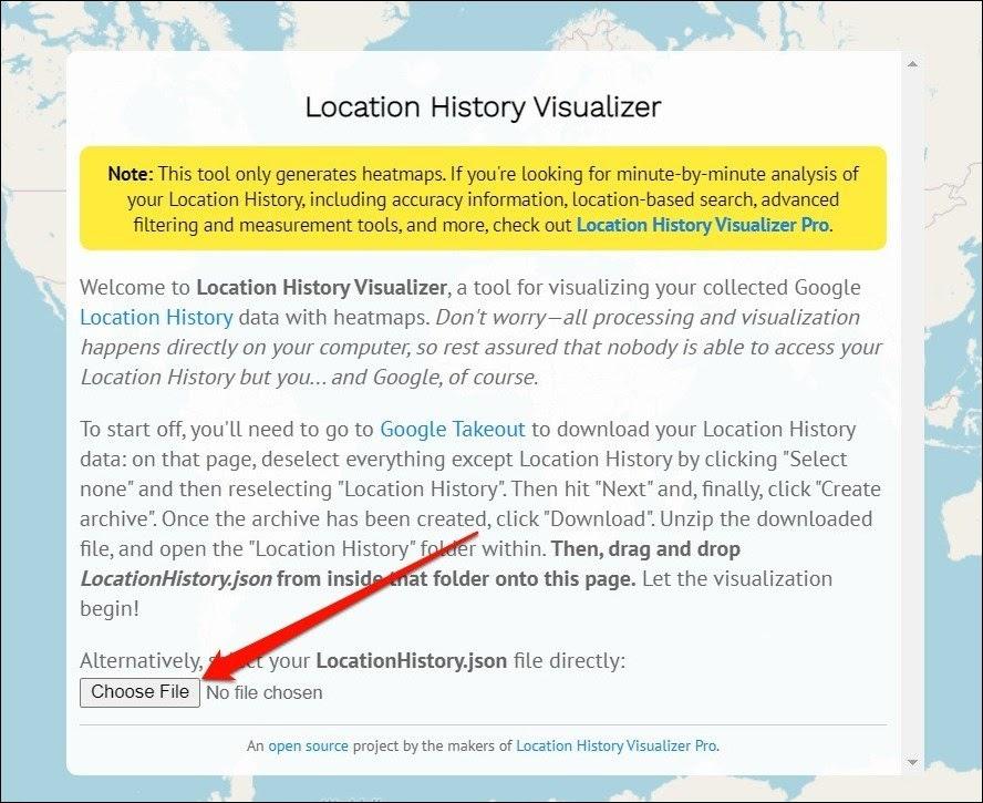Visualizador del historial de ubicaciones
