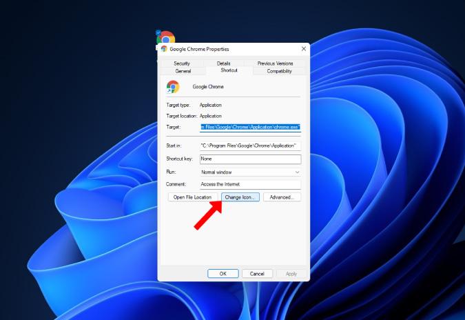 Cambio de icono de Windows 11
