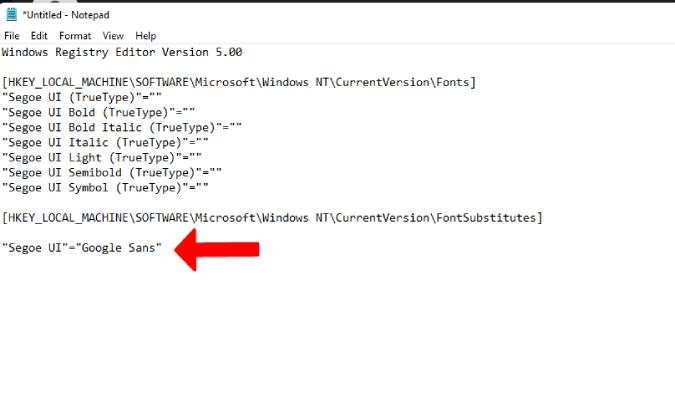 Agregar el nombre de la fuente al código