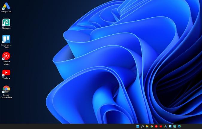 Pequeña barra de tareas en Windows 11
