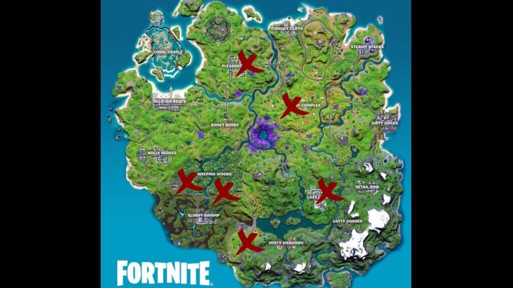 mapa de fortnite animales infectados