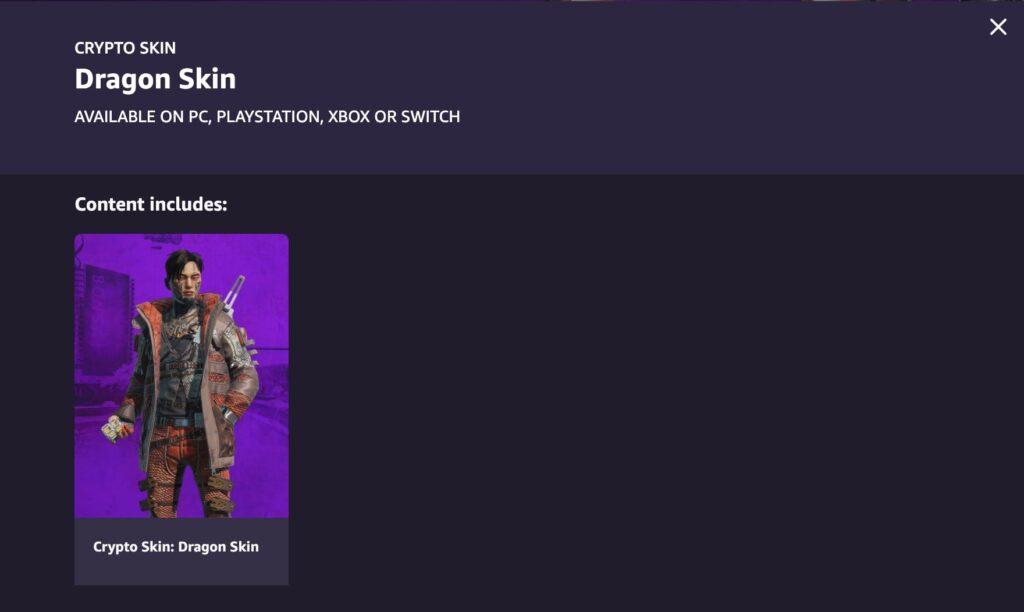 Piel criptográfica de Twitch Prime Gaming