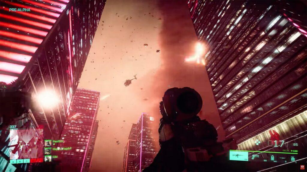 campo de batalla 2042 jugador mirando tornado