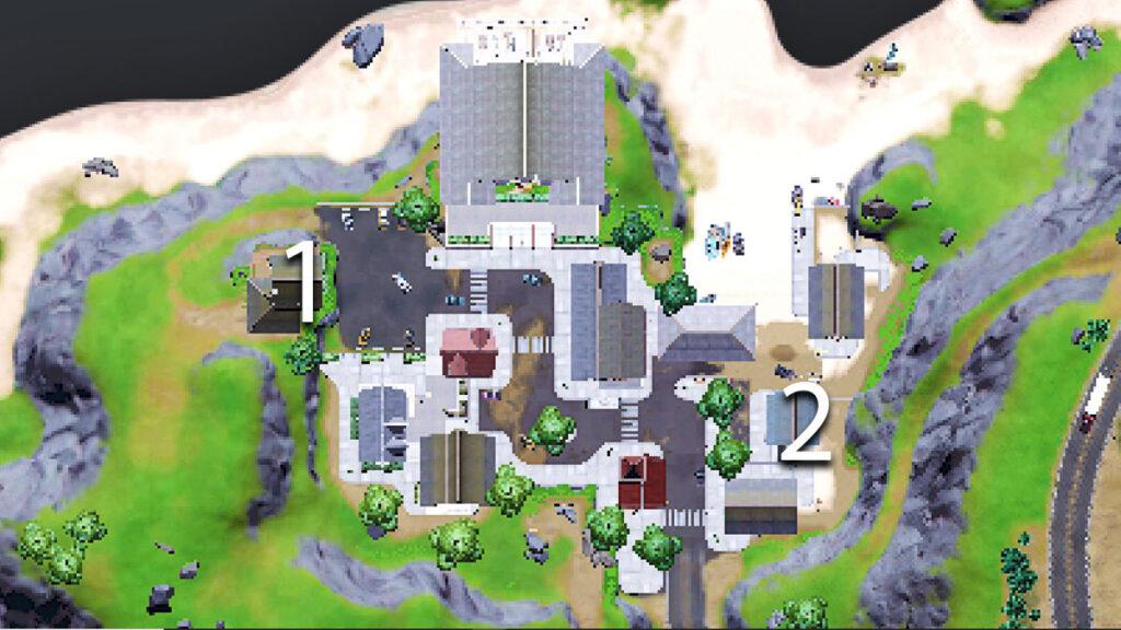 Fortnite Season 7 Week 7 ubicaciones récord de acantilados escarpados