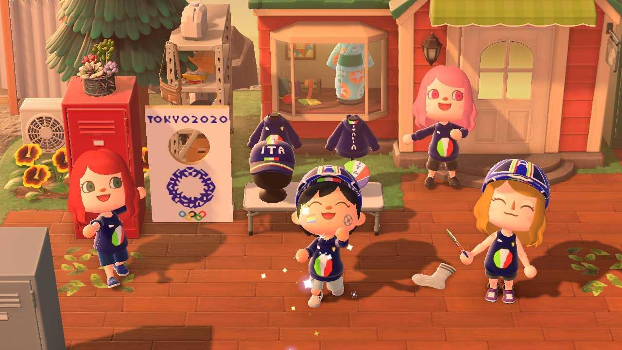 Animal Crossing New Horizons: la comunidad italiana celebra el inicio de los Juegos Olímpicos