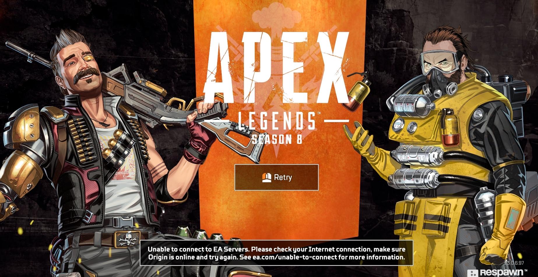 Pantalla de carga infinita de Apex Legends