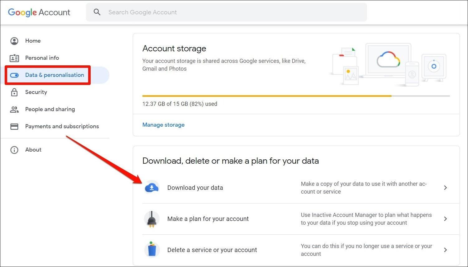 Datos y personalización
