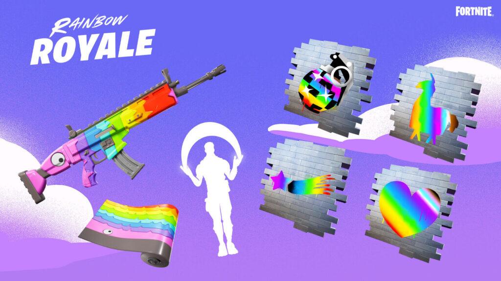 Artículos gratuitos de Fortnite Rainbow Royale