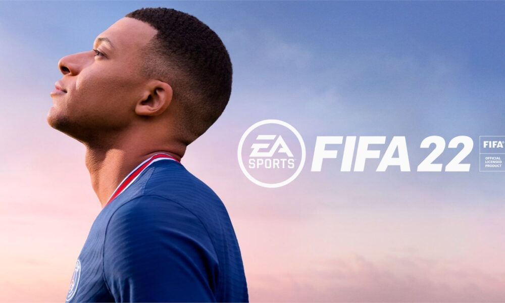 fifa 22 cover art with mbappe