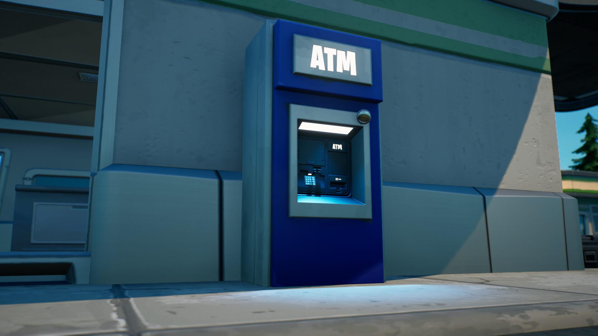 Cajero automático en Fortnite