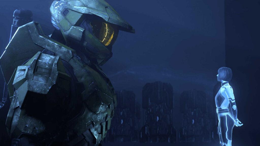 Masterchief con la campaña Cortana Halo Infinite