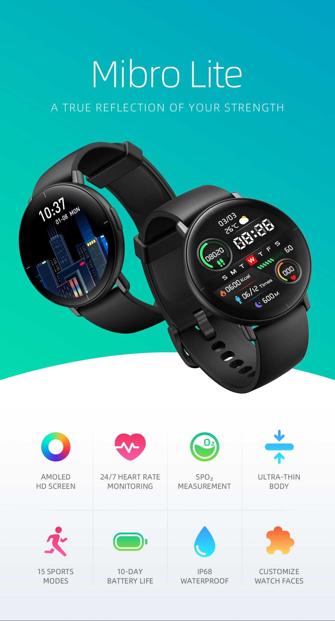 Mibro Lite: un smartwatch AMOLED por menos de 50 euros